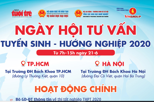 Ngày hội tư vấn tuyển sinh đại học, cao đẳng 2020 tại Hà Nội, TP